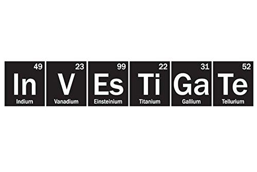 YINGKAI Investigate Science Periodic Table Elements Vinyl Wall Art Decal Living Room Home Schools Offices Vinyl Carving Wall Decal Sticker for Home Window Decoration