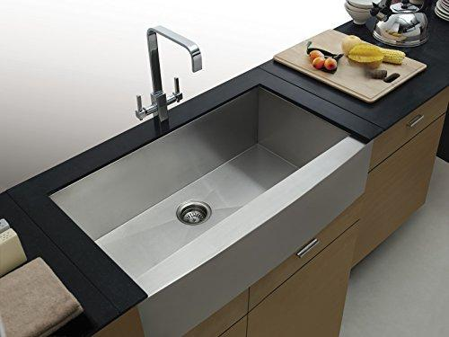 On Sale Aquarius Undermount ApronFront Farmhouse Stainless Steel Kitchen Sink