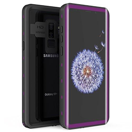 Samsung Galaxy S9 Plus Waterproof Case, Fansteck IP68 Waterproof/Snowproof/Shockproof/Dirtproof, Full body Protective case with Built-in Screen Protector for Galaxy S9+ (6.2inch) (Black/Purple)
