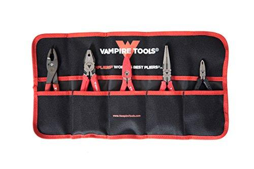 VAMPLIERS. World's Best Pliers! 5-PC SET S5BP Specialty Screw Extractions Pliers. Extract Stripped Stuck Security, Corroded or Rusted Screws/Nuts/Bolts With Tool Pouch
