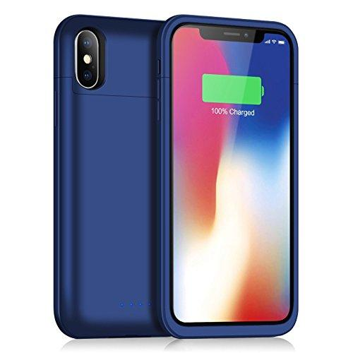 los angeles 1154b 9af43 iPhone X Battery Case [5200mAh], Feob Rechargeable Portable Power Charger  Protective Charging Case for iPhone X / iPhone 10 (5.8