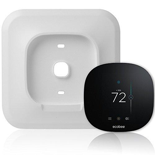 Wall Plate Bracket Cover for Ecobee3 lite Smart Wi-Fi Thermostat by HOLACA (White-Ecobee3 lite)