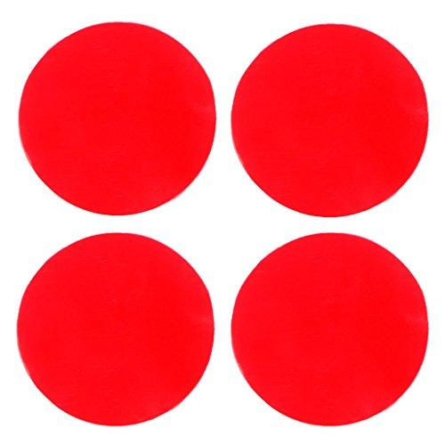 Upupo 4pcs Square Anti Slip Tape for Bathroom, Double-sided Strong Adhesive Carpet Surfaces Mounted Safety Non-slip Pad, Shower Waterproof 3M Anti Slip Tape, Anti Slip for Bathtub Kitchen etc (Round)