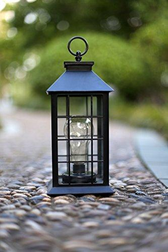 YaCool Decorative Garden Lantern - Vintage Style Hanging Lanterns Outdoor Lighting Garden Light - Battery-operated 5 Hour Timer- 12' (008)