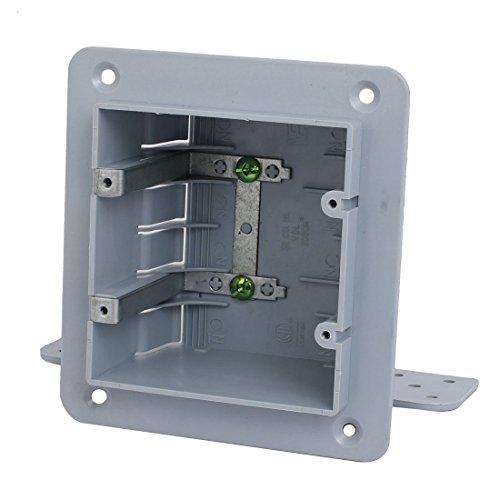 uxcell 140mmx165mmx70mm 2 Gang Electrical Junction Outlet Box Surface Mount Backbox