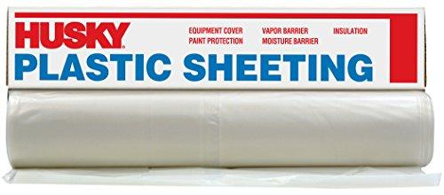 ORGILL POLY 100061240 Husky Plastic Sheeting Clear 6ml 6ftx100ft