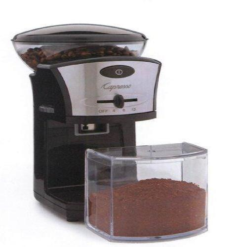 Capresso Coffee Burr Grinder w/ Electronic timer & Auto Safety Shut-off
