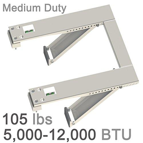 Qualward Universal Air Conditioner AC Window Support Bracket Heavy Duty-Up to 105 lbs