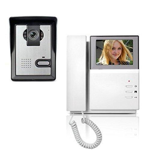 AMOCAM Video Door Phone System, 4.3 Inch Clear LCD Monitor