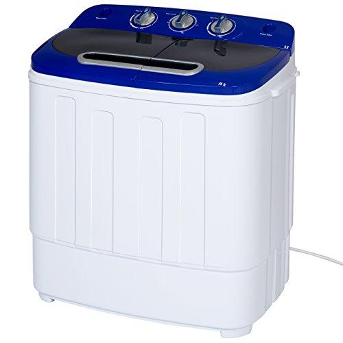 Best Choice Products Portable Compact Mini Twin Tub Washing Machine and Spin Cycle w/ Hose, 13lbs. Capacity