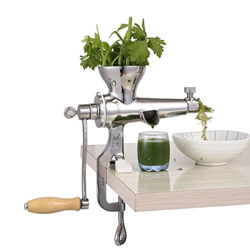Wheatgrass Manual Juicer, Superb Juice Extraction Home DIY for Soft Fruit Vegetable, Heavy Duty Stainless Steel Leafy Green Juicer Kitchen Tool