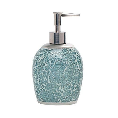 Zenna Home, India Ink Number 9 Floral Lotion or Soap Dispenser, Aqua