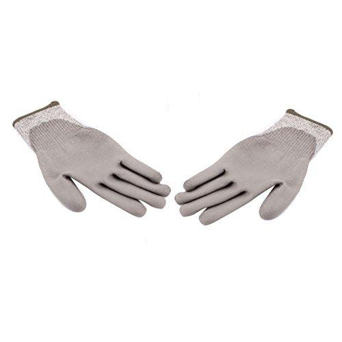 DealMux High Performance Cut Resistant Gloves Level 5 PU Coated Work Safety Gloves Thicken