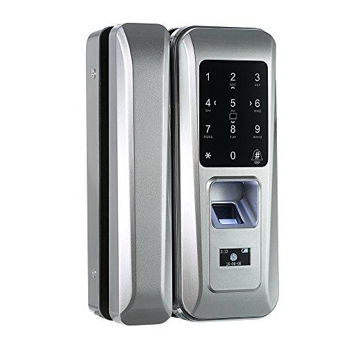 Decdeal Fingerprint & Touchscreen Smart Lock Digital Lock for Double Open Glass Door