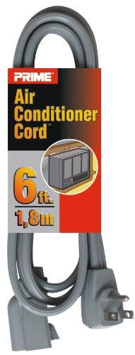 Prime EC680506L Air Conditioner and Major Appliance Extension Cord, Gray, 6-Feet