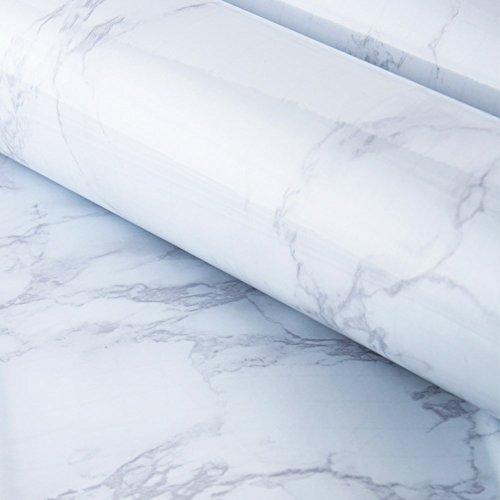 Coavas Marble Contact Paper, Peel and Stick Film Countertop Furniture Bathroom Vinyl Wallpaper Sticker, Waterproof for Home and Office (11.8 x 78.7 inches)