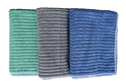 Gryeer Bamboo and Microfiber Kitchen Towels - Super Absorbent, Large and  Thick Dish Towels (4 pack, 20x30 Inch) - One Side Ribbed One Side Smooth  Tea ...
