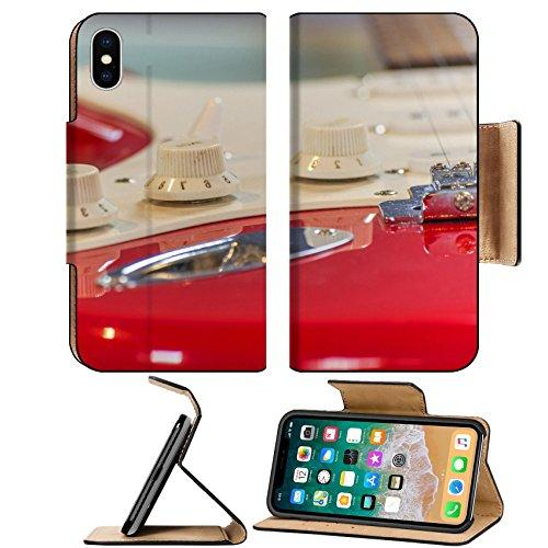 Liili Premium Apple iPhone X Flip Pu Leather Wallet Case a red stratocaster guitar Photo 18624273 Simple Snap Carrying