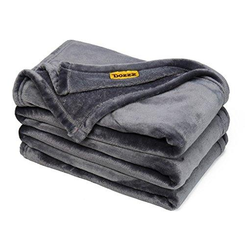 Super Soft Cozy Oversized Throw Blankets For Home And Outdoor, All Season Plush Blanket For Couch, Sofa, Chair, & Bed, Beautiful Color Gray