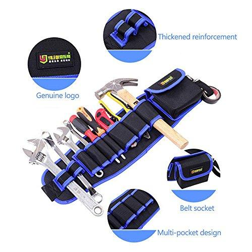 Pawaca Multi-functional Tool Belt Pouch, Wear-resistant Waterproof And Puncture-proof Work Organizer, 10-POCKET Electrical Maintenance Tool Pouch Bag Technician's Tool Holder