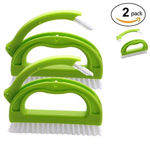 Tile Brushes,2 in 1 Multifunctional Grout Brush Cleaner, Tile Joint Cleaning Brush for The Kitchen, Walls, Floors, Bathrooms and Other Household(2 Pack)