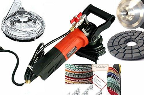 "Wet Polisher Grinder 5"" Universal Dust shroud 5"" Diamond Polishing Pad Buffer 27+1 for natural stone engineered stone granite marble terrazzo lapidary masonry floor tile countertop refinishing sander"
