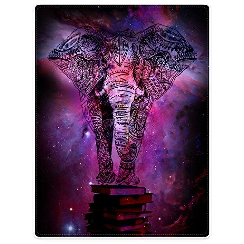 "Throw Blankets Fleece Blanket for Sofa Bed Mandala Elephant India Style Galaxy Nebula Book 50"" x 80"""