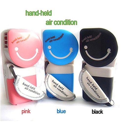 CoCocina USB Mini Portable Handheld Air Conditioner Cooler Fan -Blue