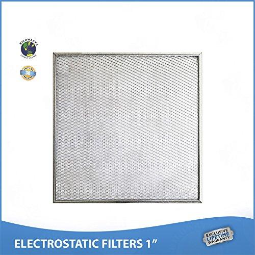 23-1/2 x 23-1/2 x 1 Lifetime Air Filter - Electrostatic Washable Furnace A/C Silver 94% Arrestance