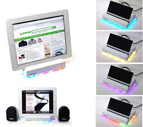 [Spot Sale] Muchroma Cindy Smart Charger+Universal Docking For Smartphones & Tablets ,Colors LED Mood Light Lamp, Multiple device Charging Station,For iPhone, iPad, Samsung Multiple Devices
