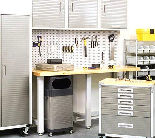 WallPeg 12 sq ft Workbench Pegboard Organizer Kit with Locking Peg Hooks AM 24243W