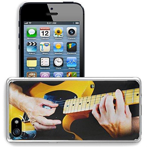 Luxlady Apple iPhone 5/5S Clear case Soft TPU Rubber Silicone Bumper Snap Cases iPhone5/5S IMAGE ID 31511074 Guitarist playing vintage fender telecaster guitar
