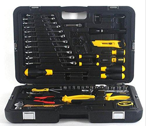 QXXZ 58 Piece Home Tool Set Socket Wrench Auto Repair Tool Combination Mixed Tool Set Hand Tool Kit With Plastic Toolbox Storage Case