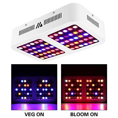 MORSEN Reflector-Series 600W LED Grow Light Full Spectrum for Indoor Plants  with VEG and Bloom Switch
