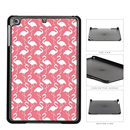 Seamless Flamingo Birds Wallpaper Pink Color iPad MINI Hard Plastic Snap on Case