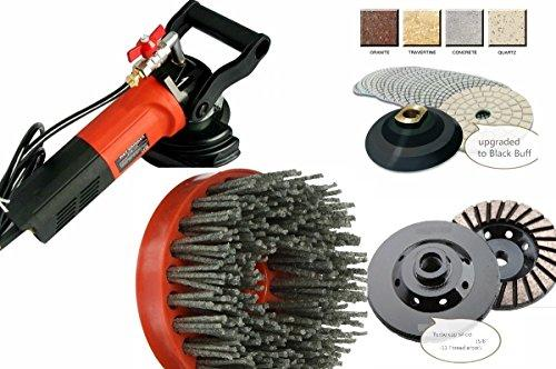 Wet Polisher Diamond Polishing Pad Grinding cup silicon carbide antiquing brush granite marble concrete floor tile countertop color enhance refinishing repair stone care masonry fabricating