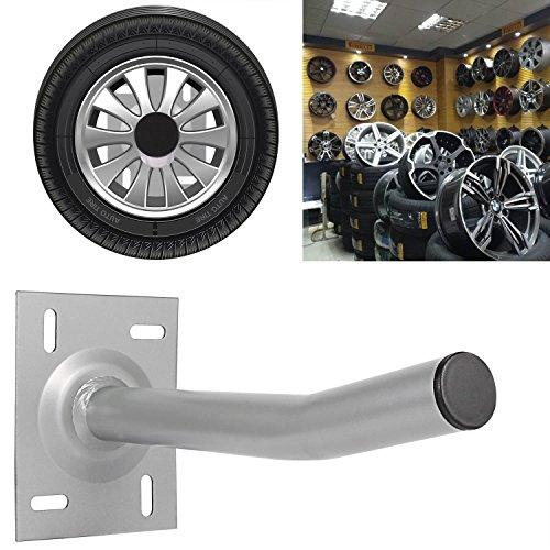 Kaluo Wall Mount Garage Hanging Storage Utility Hooks for Bike and Tires Silver 6 Packs