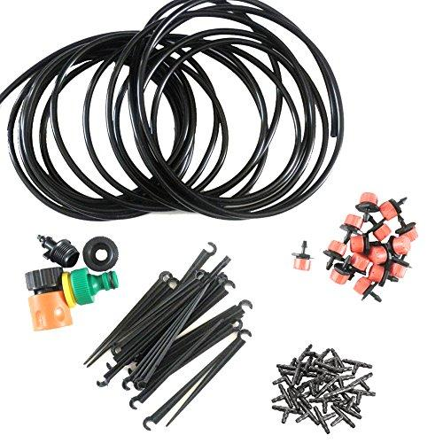 xlpace Automatic Micro Drip Irrigation System Garden and Greenhouse Landscaping Irrigation Plant Watering Drip Hose Sprinkler System Kit 82 Feet