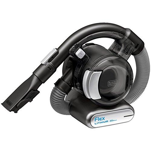 1 - 20-Volt MAX Lithium FLEX(TM) Vac with Floor Head & Pet Hair Brush, Cordless, portable & ultracompact, 4ft flexible hose easily reaches tight spots, high shelves & more, Stick vac floor head converts device for larger cleaning jobs