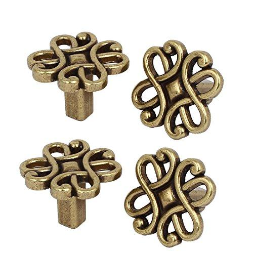 uxcell Cupboard Cabinet Dresser Door 30mm x 30mm Single Hole Square Pull Knobs 4PCS