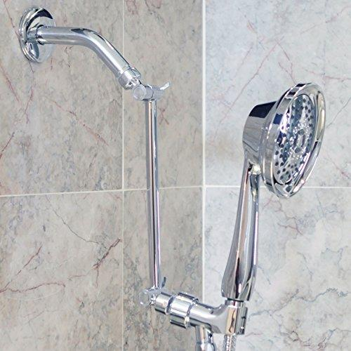 10 Inch Adjustable Shower Arm - Modern Brass Showerhead Extension