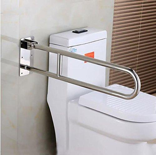 YAOHAOHAO Bath rooms with bathroom handrail, accessibility, handrail, the elderly disabled persons skin care hand, the stainless steel safety glass handrail anti-slip (70cm x 15cm) Shower handle bar