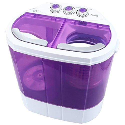 KUPPET Mini 8-9lbs Portable Washing Machine & Spin Dryer Compact Durable Design To Wash All your Laundry Twin Tub Washer, for Apartments, Dorms, RV Camping Swim Suit Spinner Dryer (Purple)