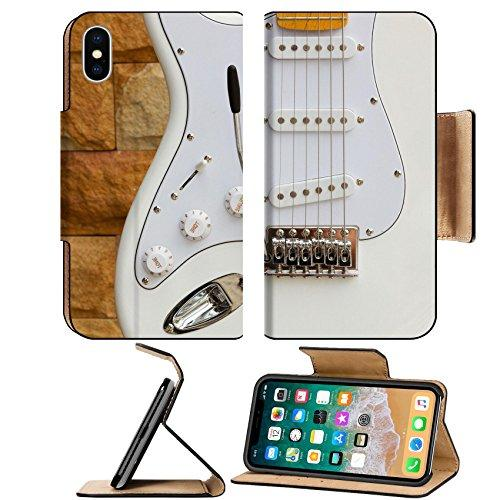 Liili Premium Apple iPhone X Flip Pu Leather Wallet Case a white stratocaster electric guitar A Photo 10425701 Simple Snap Carrying