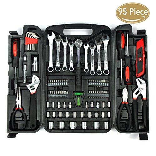KINGORIGIN 95 Piece Home Repair Tool Kits,Multi Tools Set, Homeowner Tool Kits, Tool Sets,tool Kit