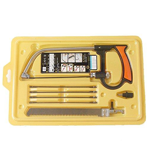 Wholesale Hand Saw Kits Multi-purpose 8-in-1 Hacksaw Portable Bow Hand Saw Kit for Woodworking Tool for Cutting PVC//Aluminum/Glass/Plastic Diy Hacksaw Blades Tool Case