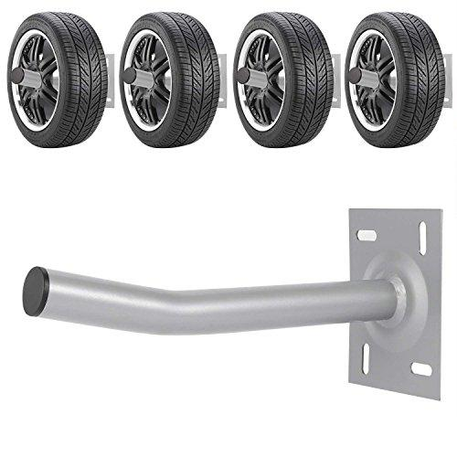 Leoneva 4 PCs Wall Mounted Tire Racks, Garage Hanging Storage Utility Hooks for Ladder, Bike, Garden Tools ETC.(US STORAGE)