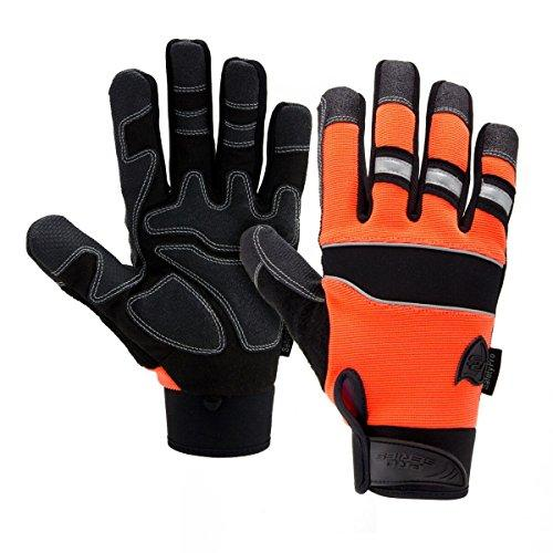 West Chester 86525 Pro Series Safety Gloves, Orange