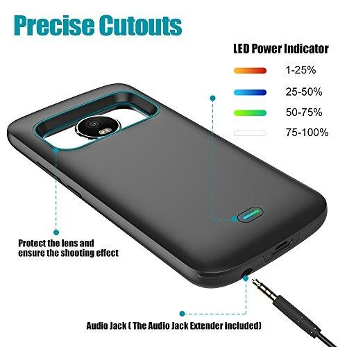 sale retailer 77b7a 8880e Moto G5 Plus Battery Case, 4400mAh with Headphone Jack Extender Charger  Case Portable Charging Case for Motorola Moto G Plus 5th Generation (5.2  inch) ...