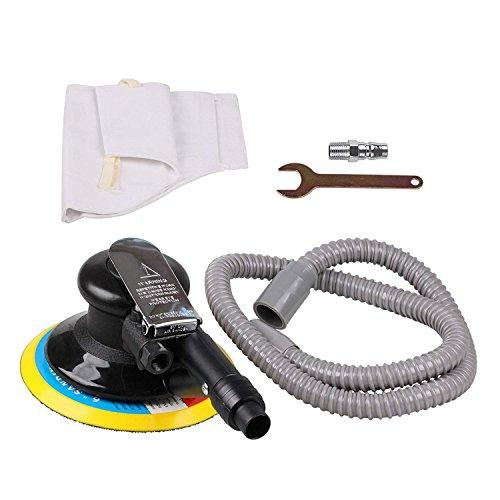 "ZFE 5inch/6inch Random Orbital Air Palm Sander Air Random Orbital Sander Vacuum 6"" 150mm Pad Hand Power Tool Polisher Grinding Sanding Tools for Auto Body Pneumatic Hose"